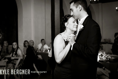 Groom dancing with his mother at the reception at Chase Court