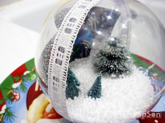 прозрачный пластиковый шар на елку