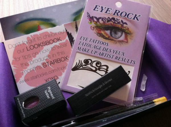 Star Box by Star Looks - October 2012 Review - Monthly Makeup Subscription Boxes / Reviews