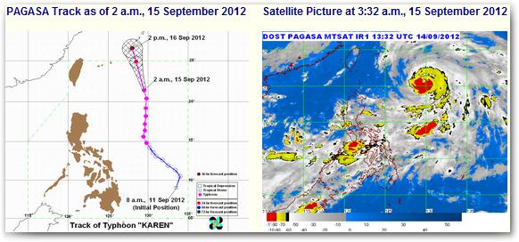 Bagyong Karen September 15, 2012 Update