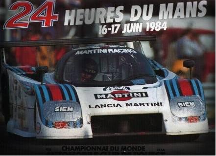 Affiche officielle des 24 Heures du Mans 1984