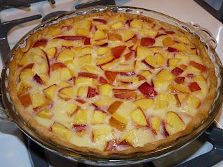 nectarine custard pie