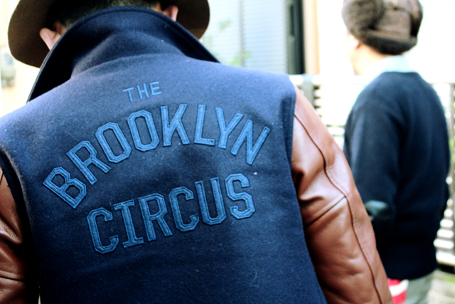 thebrooklyncircus thebkc varsity holidaycollection vest sweater motovarsity greenangle 14fw