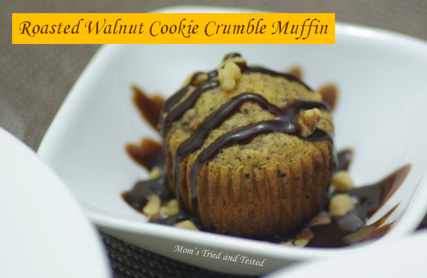 Roasted Walnut Cookie Crumble Muffin