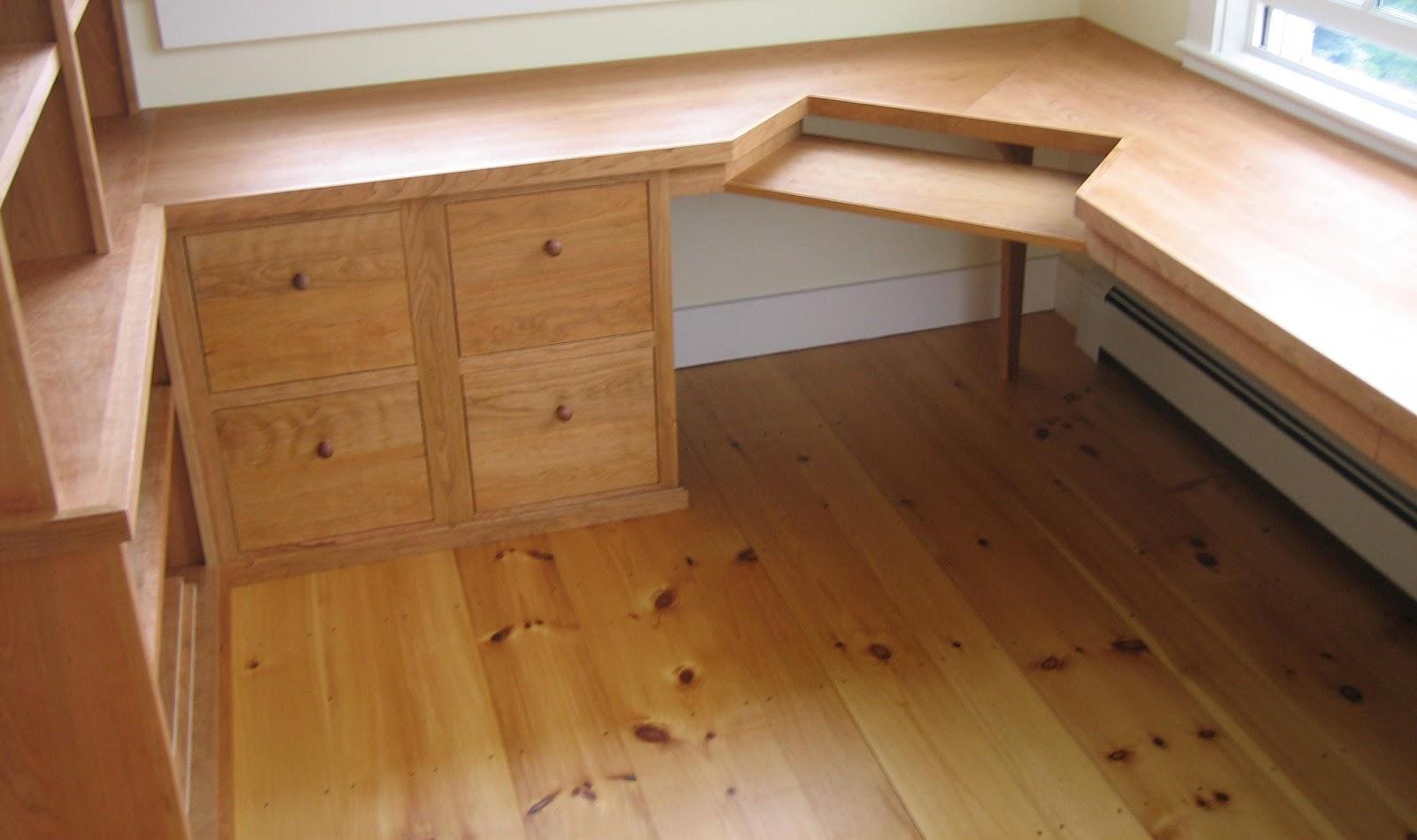 cherry custom home office desk. Home Office | Custom Cherry Cabinetry Desk E