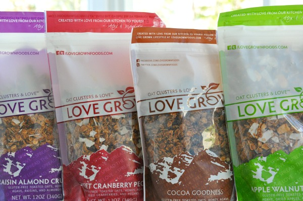 bags of love grown granola