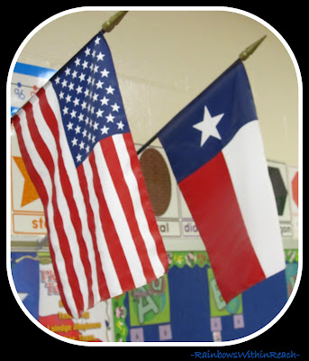 photo of: American Flag with Texas Flag via RainbowsWithinReach