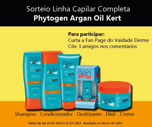 Linha Capliar Completa Phytogen Argan Oil da Kert