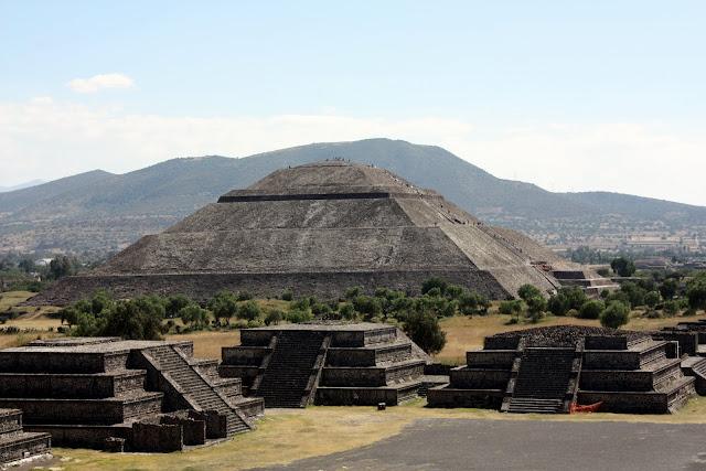 pirámide del sol, México, precolombina