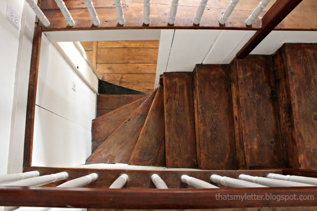 antique farmhouse stairs