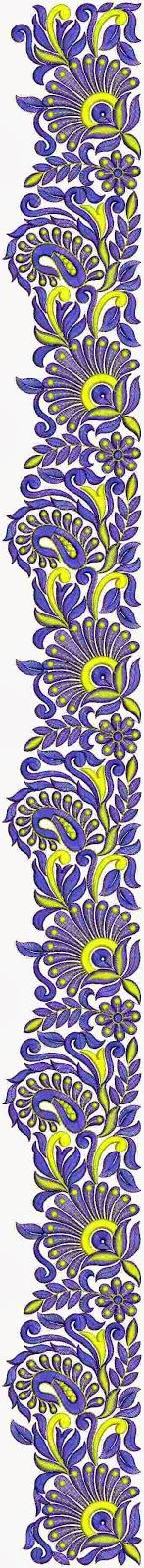 Beludji borduurwerk C Pallu sari