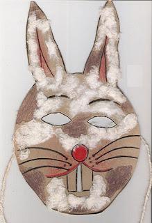 Máscara de coelho -símbolo da páscoa