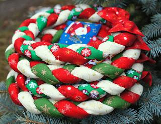 новогодний декор венок текстильный