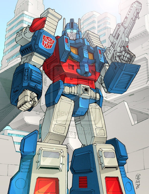 Character Close Up Ultra Magnus on robots fighting vehicle