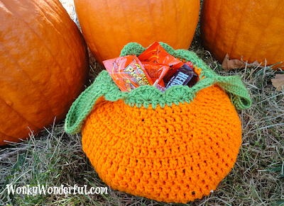 free crochet pattern pumpkin trick or treat bag