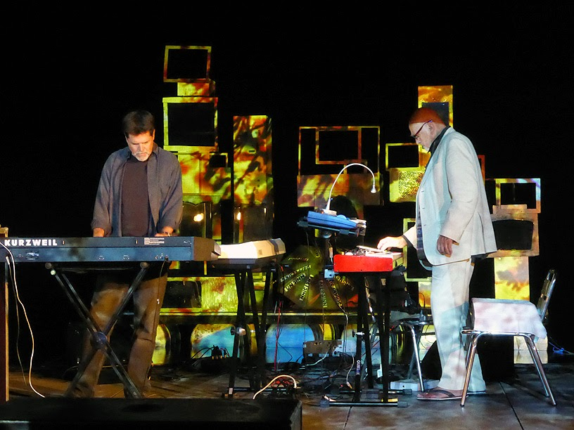 Tim Story & Hans Joachim Roedelius @ More Ohr Less Festival 2014 / photo S. Mazars