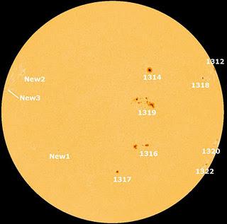 manchas solares 17 de octubre de 2011
