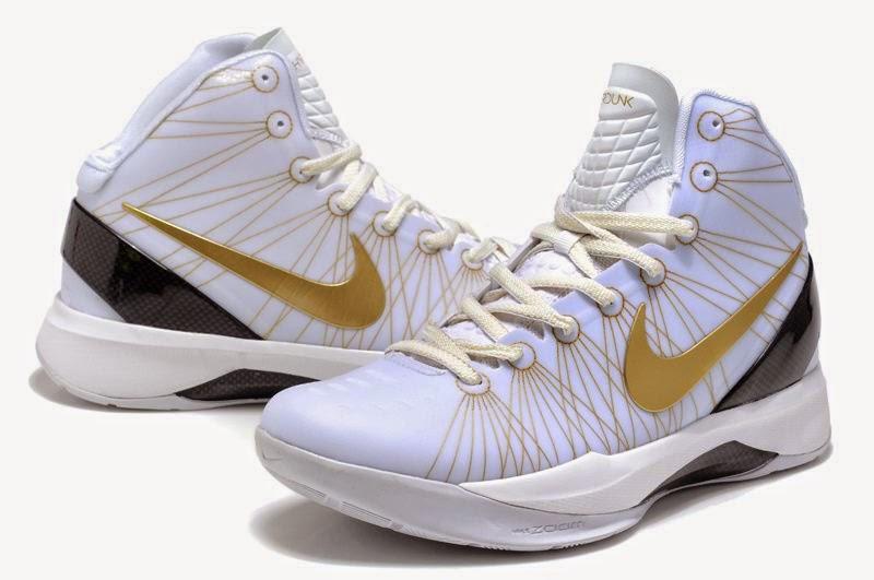 Cheap Nike Zoom Hyperdunk Elite Home Flywire White Metallic Gold