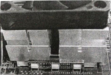 Peletakan CPU fan diatas prosesor