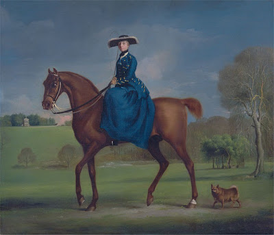The Countess of Coningsby in the Costume of the Charlton Hunt by George Stubbs, 1765