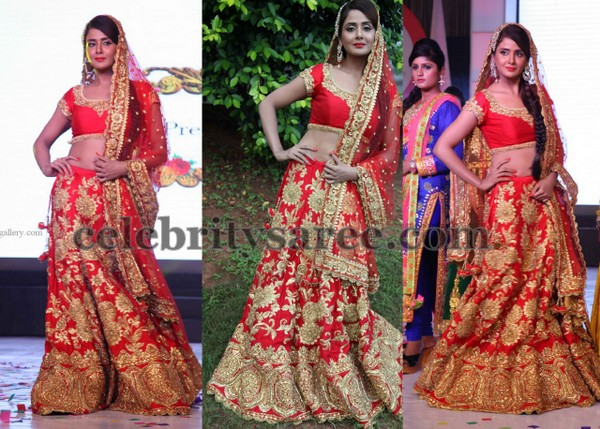 Parul Yadhav in Red Lehenga