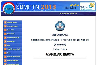 SBMPTN 2013 Online, Jadwal dan Cara Daftar PTN