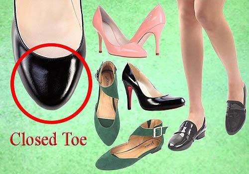 Bagian Depan Sepatu Wanita, Closed Toe