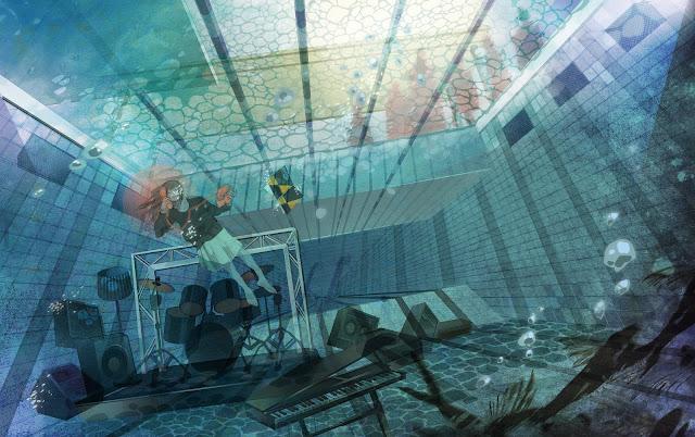 anime girl,underwater,original wallpaper