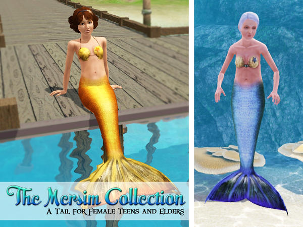 My Sims 3 Blog Medalgold S Mermaid Tails