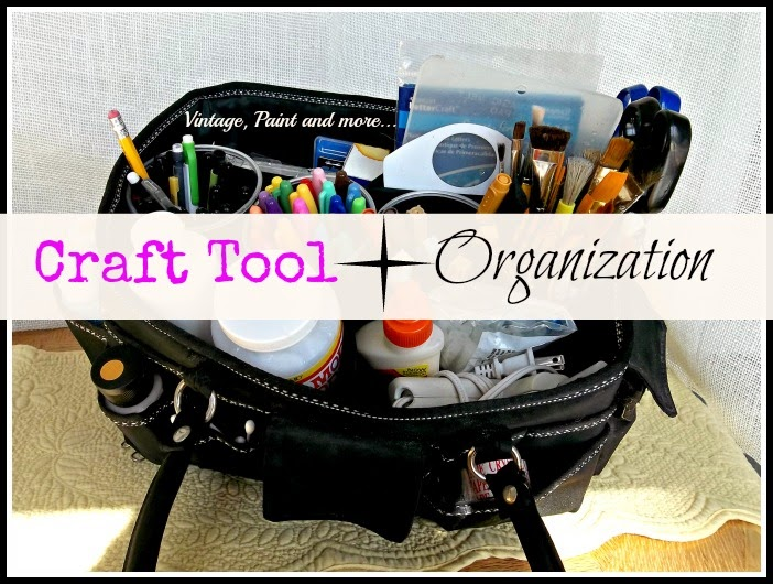 Craft Tool Organization - organizing craft tools, ways to store craft tools