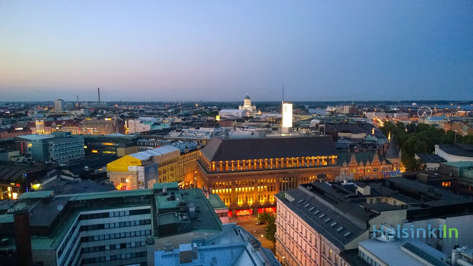 Stockmann and Tuomiokirkko from above