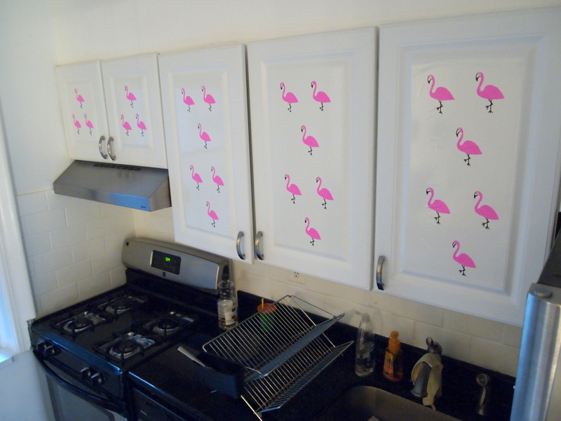 Temporary Contact Paper Kitchen Cabinet Decorations Pink
