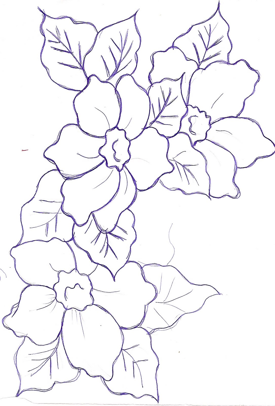 Encantador Flor Imprimible Para Colorear Molde - Dibujos Para ...