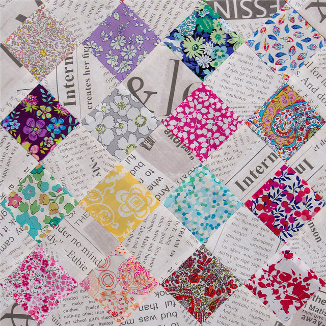 Red Pepper Quilts: Liberty Tana Lawn and Collage Newsprint ~ A ... : photo collage quilt - Adamdwight.com