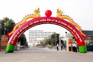Tổ chức sự kiện Trần Gia - Cho thuê cổng hơi, rối hơi, khí cầu, bóng bay các loại