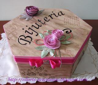 Caixa feminina, Caixa Vintage, Porta Bijuteria