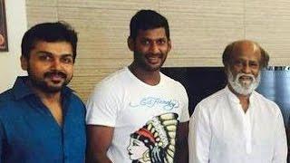 Vishal meets Rajini, Kamal for Nadigar Sangam elections
