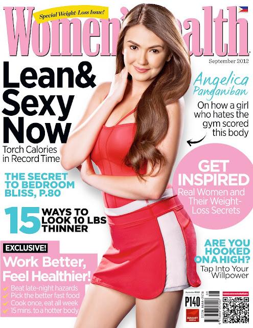 Angelica Panganiban Covers Women's Health magazine September 2012 issue