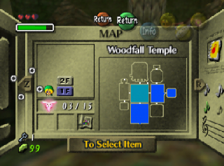 Majora's Mask Woodfall temple map