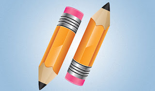Pencil icon using Illustrator