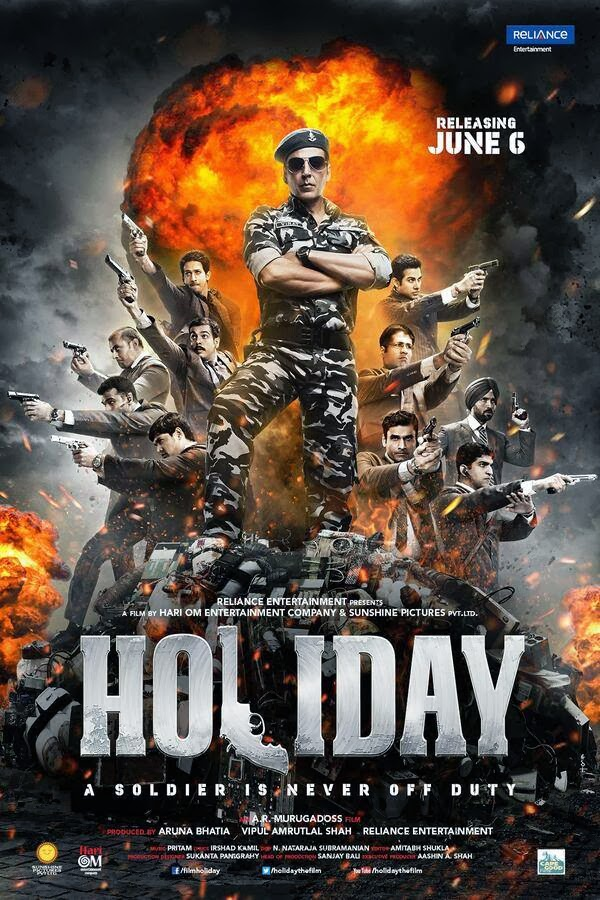 Brand new poster of the ‪Akshay Kumar‬ starrer ‪‎Holiday‬!