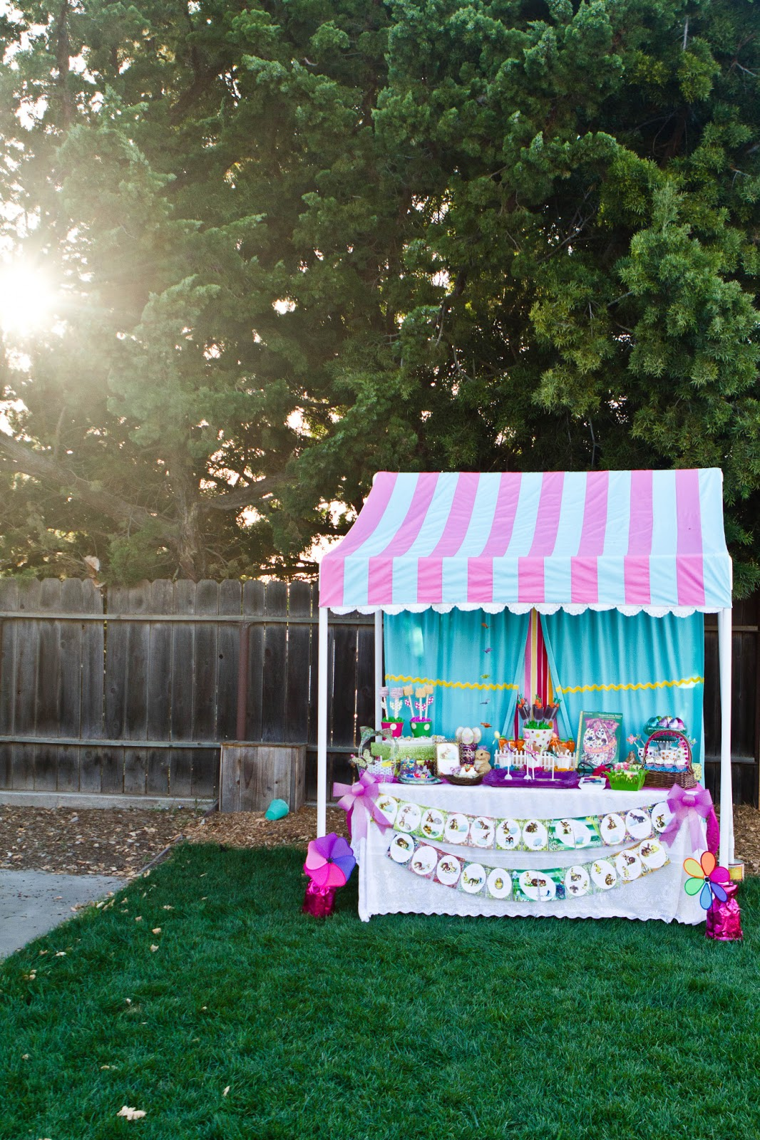Easter Dessert Table with Canopy & Miss Party Mom:  Miss Party Momu0027s  How-To PVC Canopy Tutorial