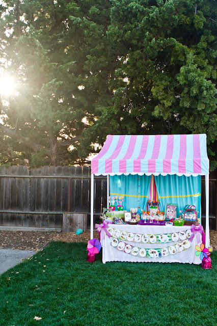 Easter Dessert Table with Canopy