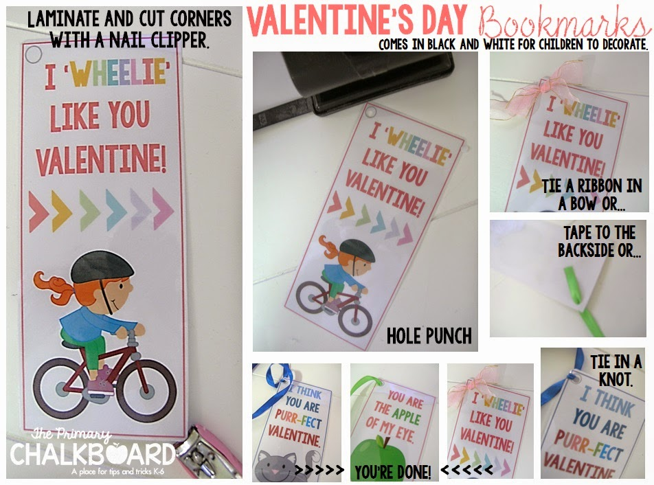 Free Valentine's Day bookmarks I Clever Classroom