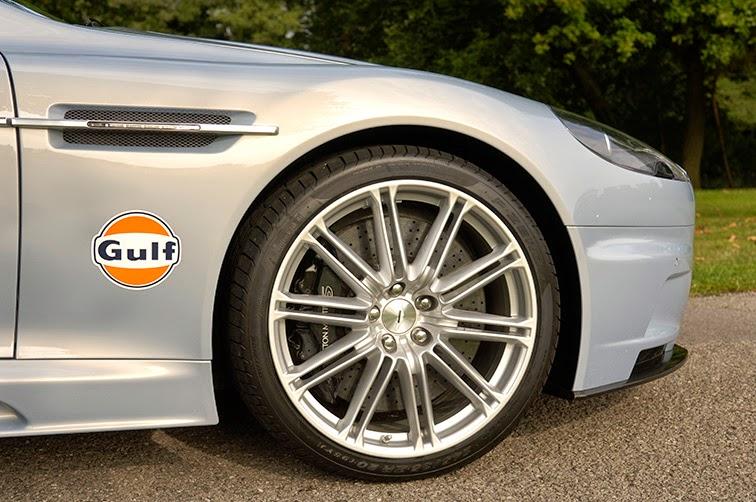 Aston Martin shot of a wheel