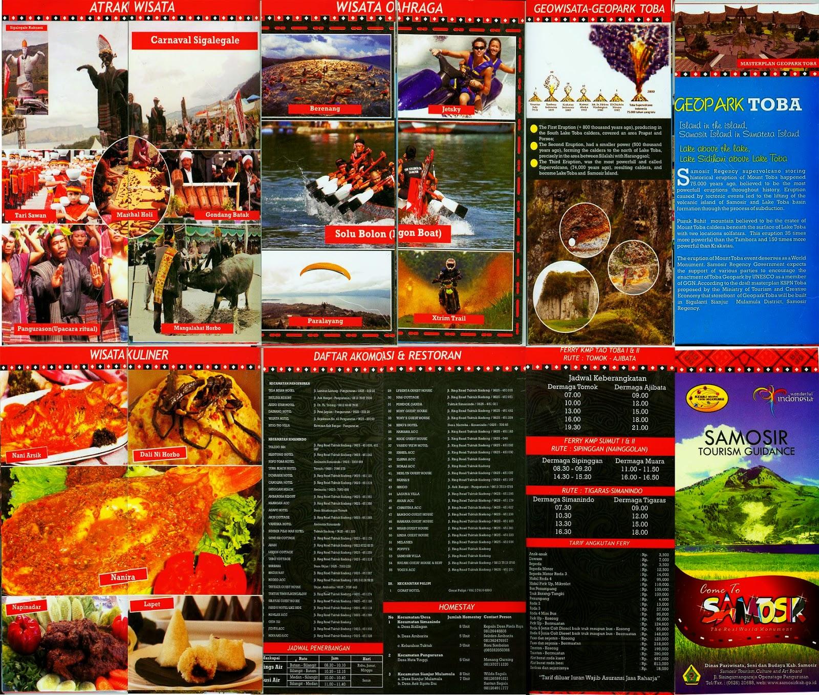 Brosur Pariwisata di Kabupaten Samosir