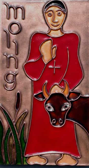 Den hellige Moling, emaljearbeid av Anne Murphy