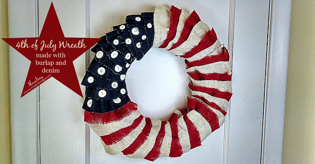 burlap, denim, patriotic, independence day