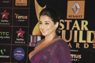 Priyanka and Vidya Balan at Renault Star Guild Awards 2013 red carpet