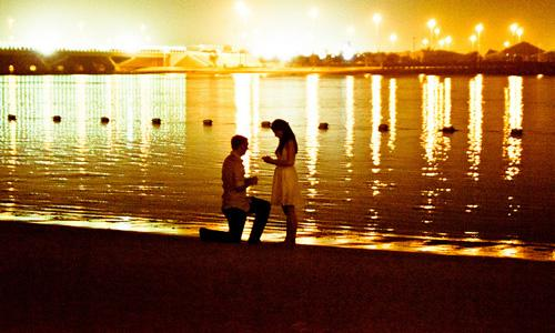 Really Romantic Ways To Propose To Her,sunset romance love